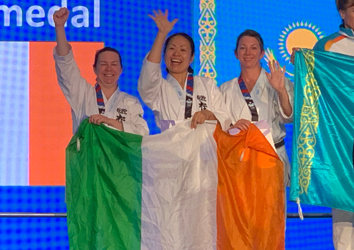 2019 - Silver for SKIF Ireland Women Masters Team Kumite at SKIF World Championships