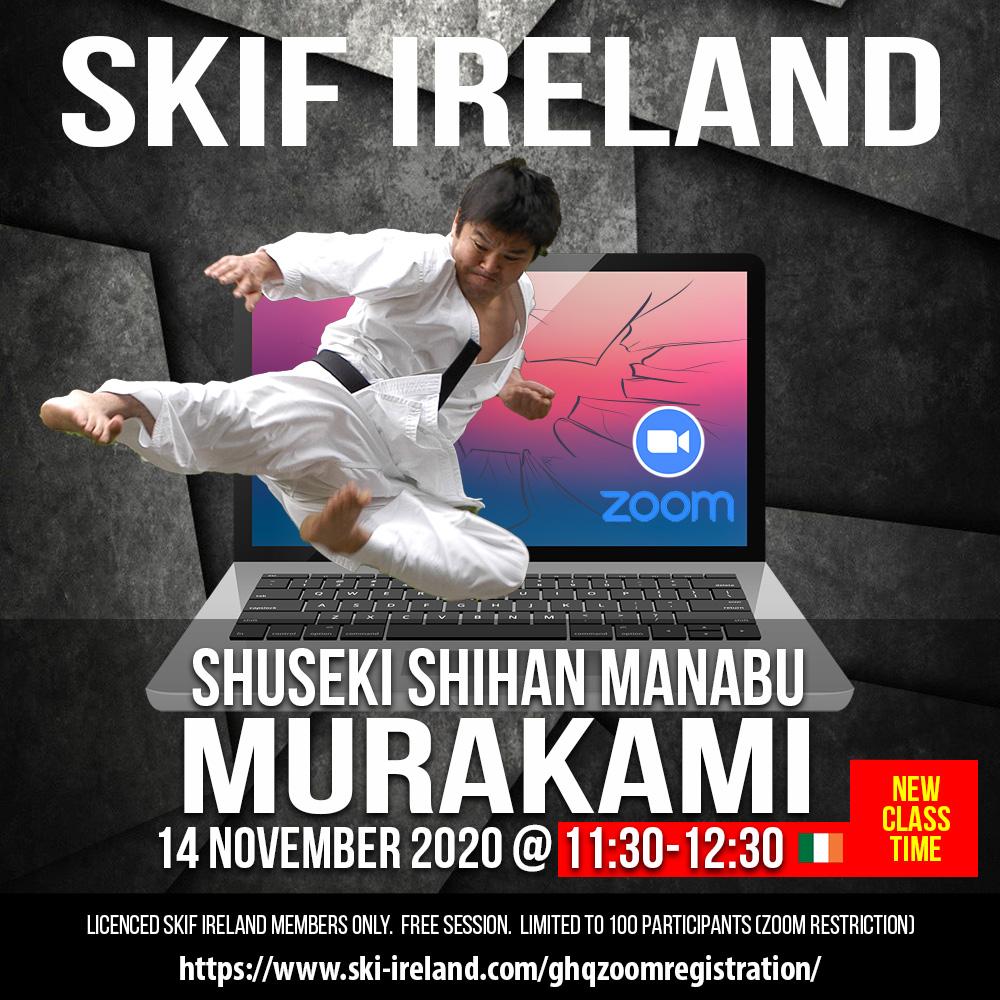 Shuseki Shihan Manabu Murakami Private Zoom Class